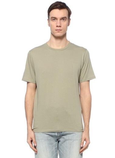 Saint Laurent Saint Laurent  Bisiklet Yaka Basic T-shirt 101624702 Yeşil